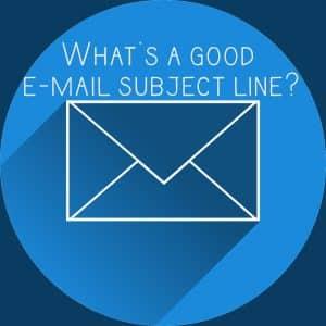 E-mail subject line
