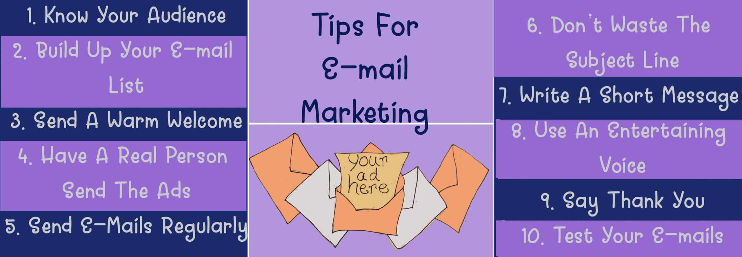 Tips for e-mail marketing
